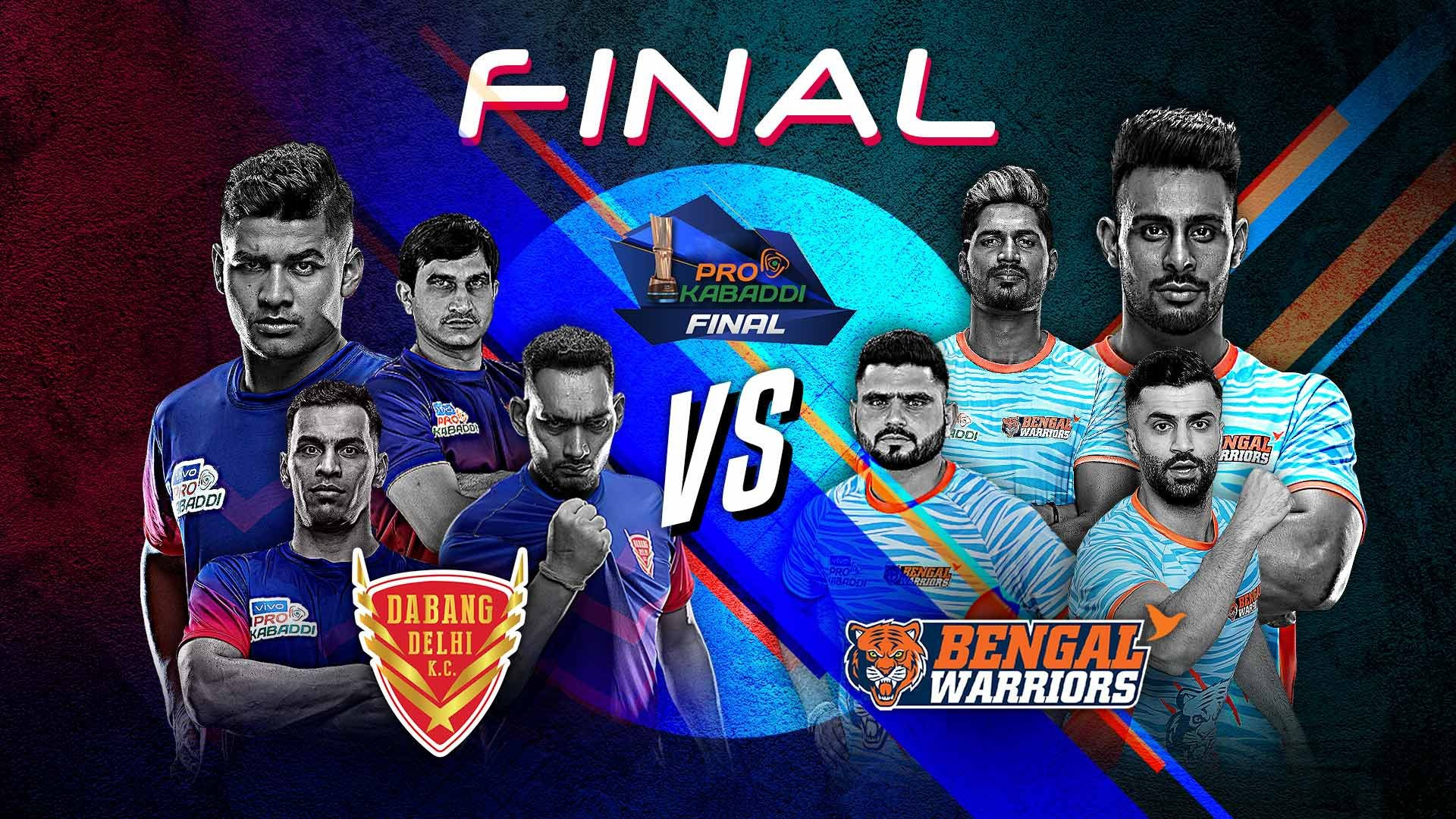 PKL7 Final Preview: Dabang Delhi K.C. vs. Bengal Warriors – Which first-timer will lift the coveted trophy?